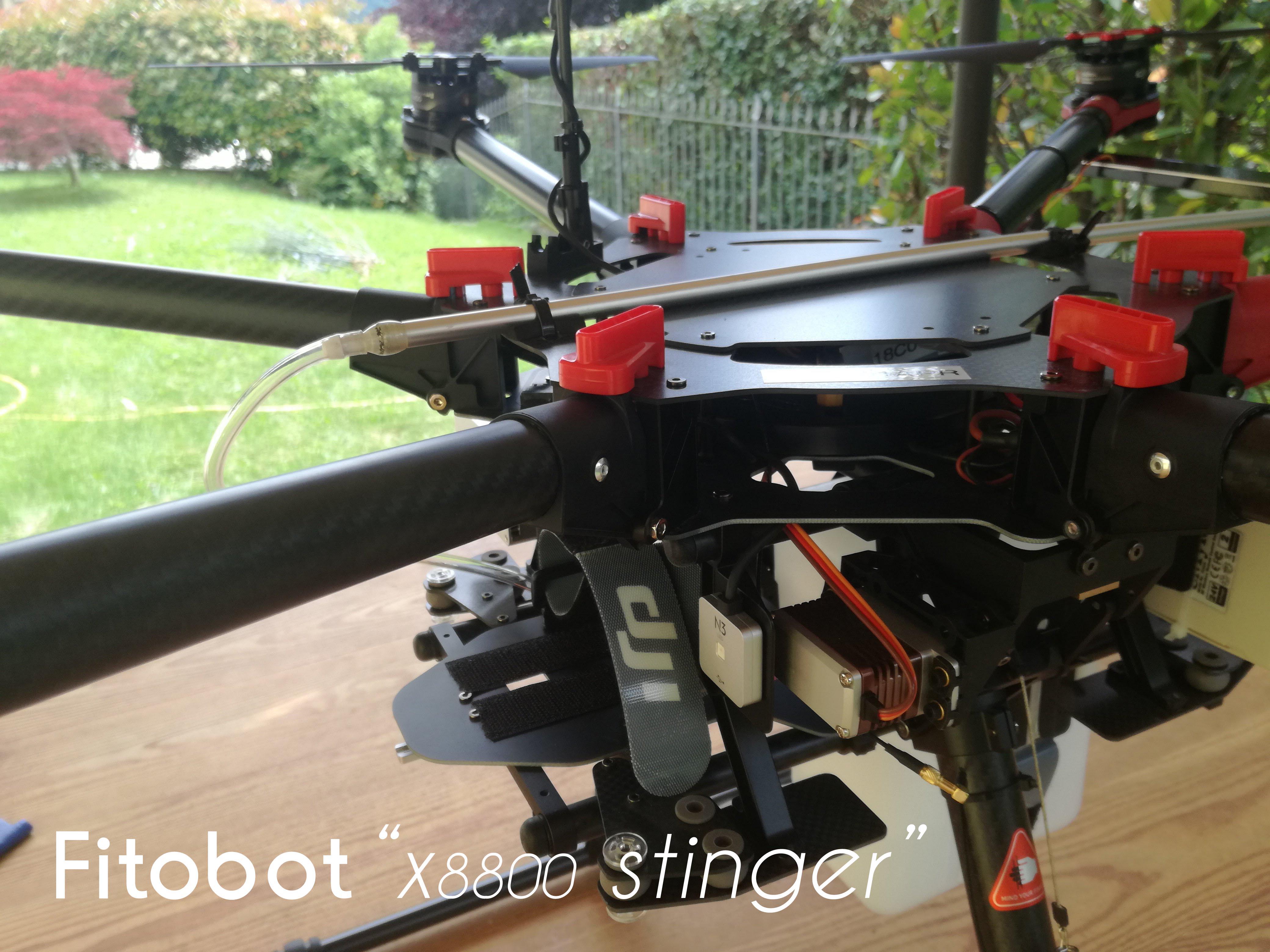 Drone per intervento lotta alla processionaria