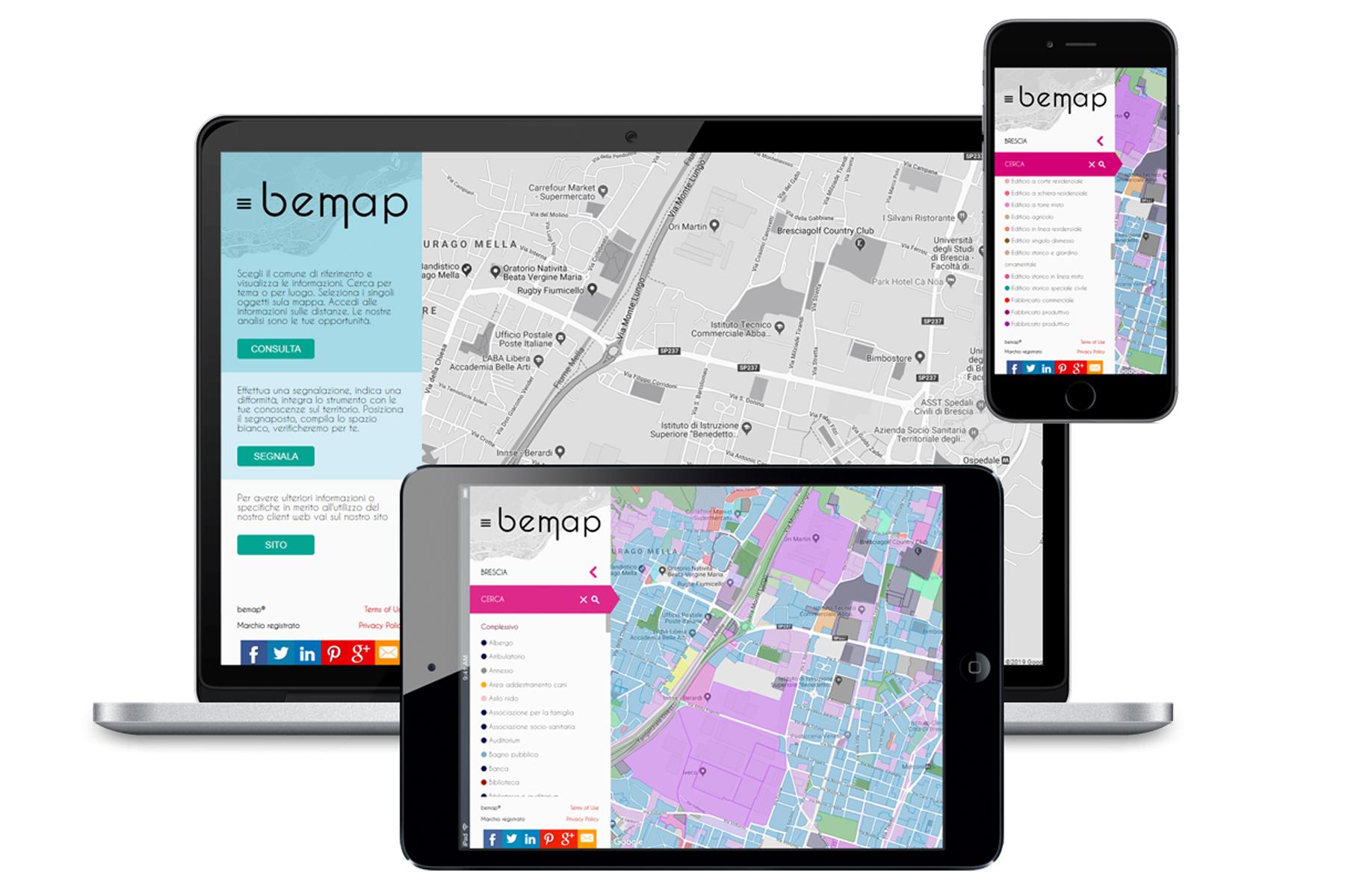 Sistema informativo territoriale per la mappatura di informazioni